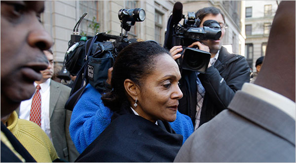 Former Baltimore Mayor Sheila Dixon as she left a courthouse in 2009 after her conviction. Photo by Rob Carr/Associated Press. Originally ran in the New York Times.