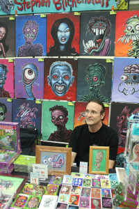 Artist Steve Blickenstaff showcases his work at his booth at Baltimore Comic Con. Photo by Josephine Valois