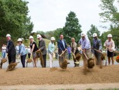 Lake Roland Nature Cntr groundbreaking