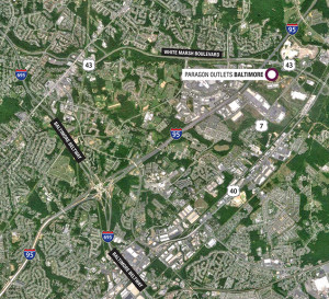 The White Marsh area where an upscale outlet mall is being proposed.