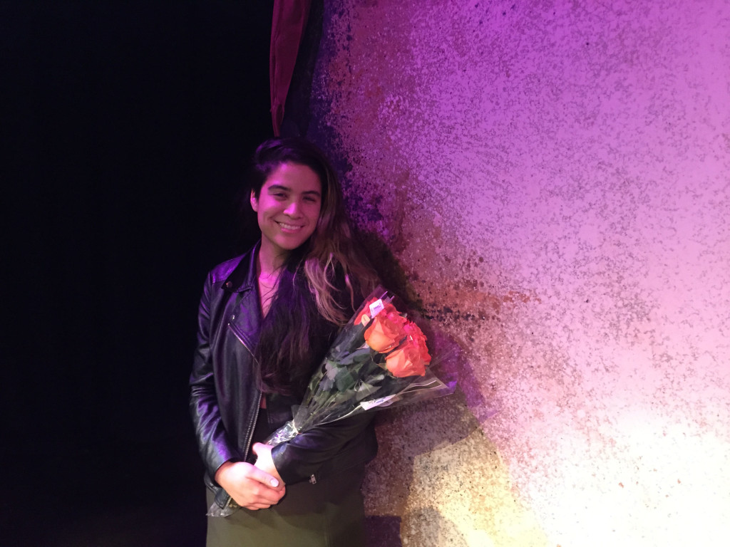 """Mani Yangilmau, a senior at Towson University, wrote the play """"Vajungle,"""" which was performed at the college earlier this month."""