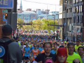 Thousands participated in last weekend's Baltimore Running Festival. Photo by Emily McBee