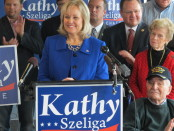 Republican state Rep. Kathy Szeliga announces her candidacy for U.S. Senate. Photo by Brian Witte of the Associated Press. Photo borrowed by WTOP Radio website.