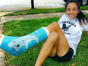 Alysa Whetro has fully recovered from a shark attack which almost sidelined her running career. Photo provided by family.