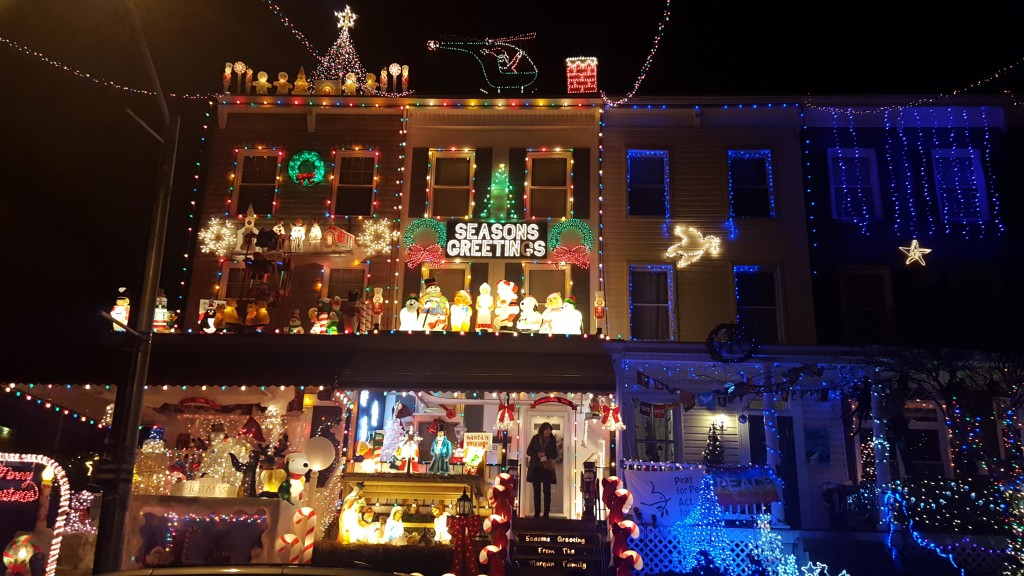 A house on 34th Street in Baltimore is part of the annual Christmas Miracle on 34th Street light show. Photo by Taylor N. Villarreal.