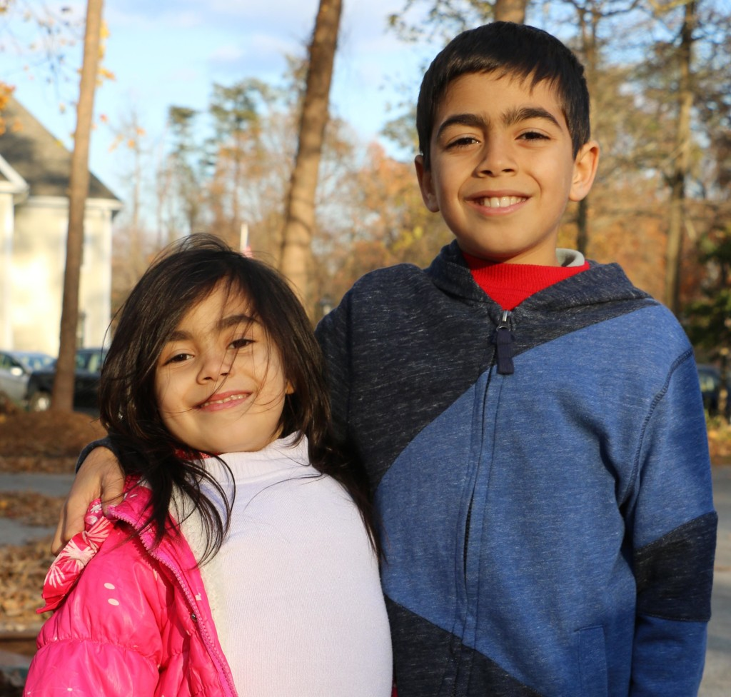 Nine-year-old Yaseen and 6-year-old Ghadir. Photo by Tracy Smith.