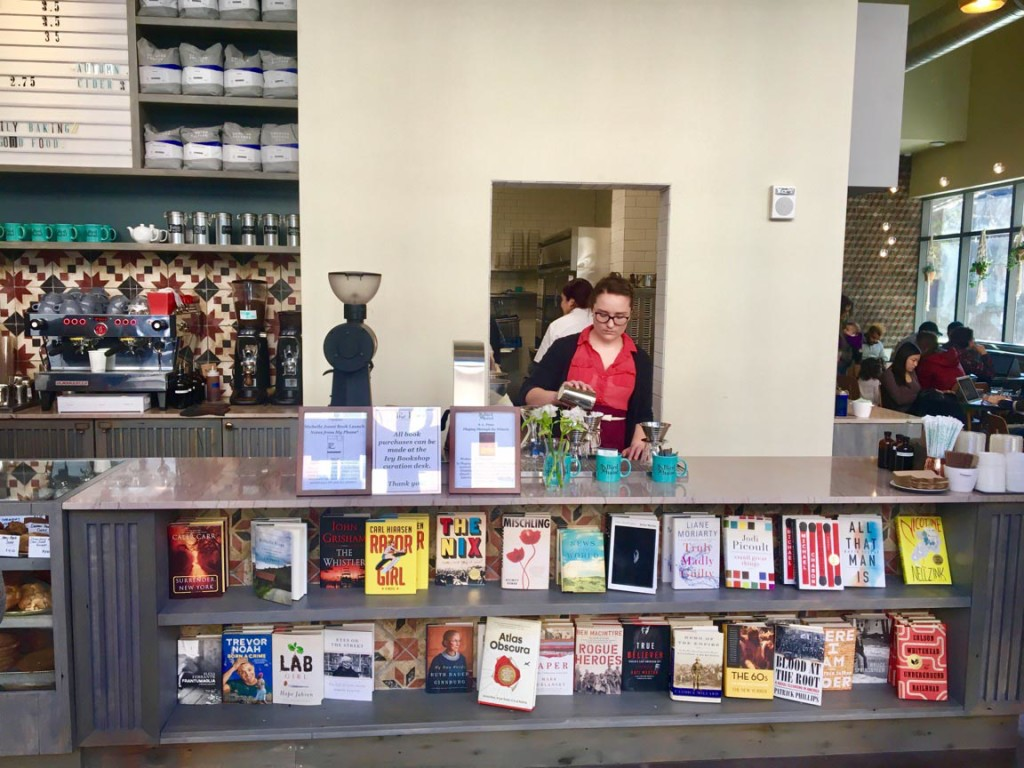 The Berlin's new store, Bird in Hand, mixes every book lover's dream: books and coffee. Photo by Heather Wanner.