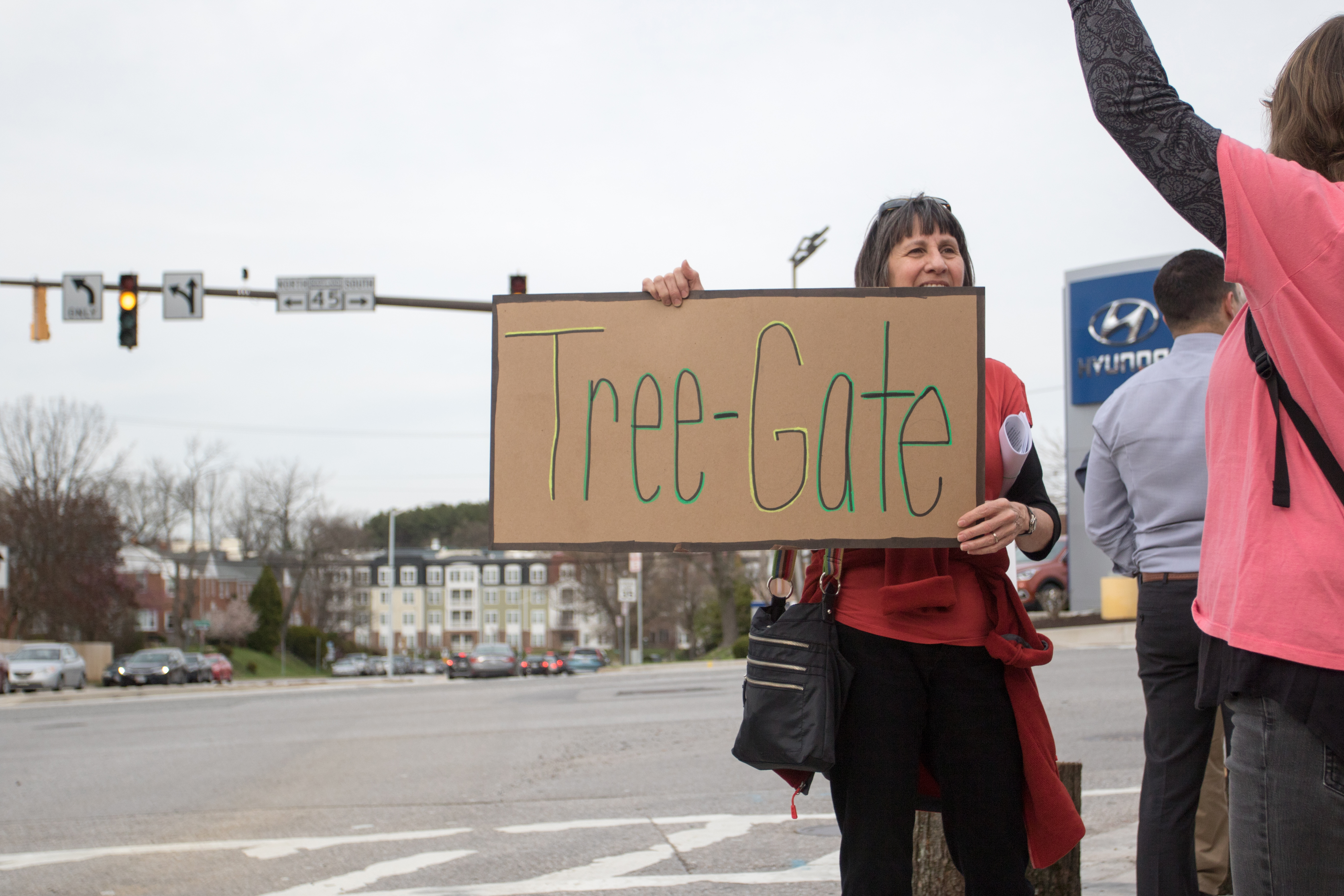 Brenda Bodain was one of the organizers of the rally by getting the word out about the protest. Photo by Nick Rynes.