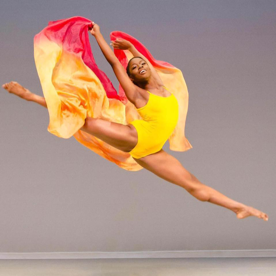 Towson University graduate Jessica Pinkett dances for the Ailey II dance company. Photo provided by Ailey II.