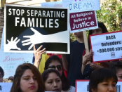 DREAMER advocates protest end of DACA program. Photo by SCALA News