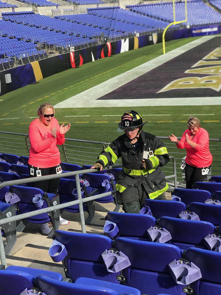 Hundreds of firefighters participated in the Sept. 11 Memorial Stair Climb at M&T Bank Stadium last month.